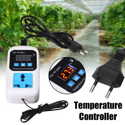 Electronic Thermostat Digital Breeding Temperature Controller Socket UK Plug