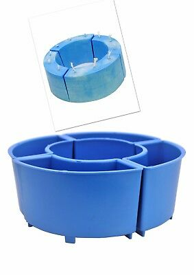 4 x Arc Semi Curved Wave Shaped Candle Making Moulds Molds, UK Made. S7674