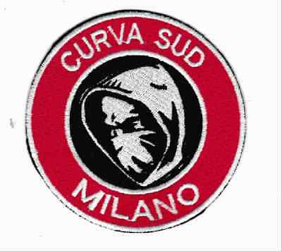 [Patch] CURVED SUD MILAN cm 9 diameter replica embroidered Patch embroidery -821
