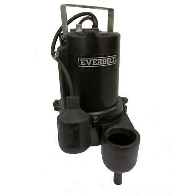 Everbilt 6/10 HP Sewage Pump Model # ESE60W-HD Pumps 9910GPH Heavy duty