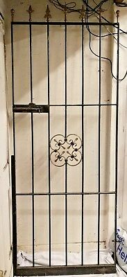 wrought iron gate 206cm high x 80cm wide (BUYER COLLECT)