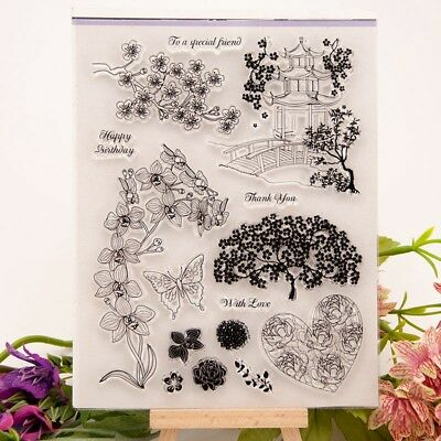 Numbers Transparent Silicone Clear Rubber Stamp Sheet Cling Scrapbooking K6