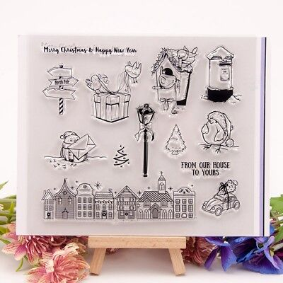 Letter House Transparent Silicone Clear Rubber Stamp Cling Diary Scrapbooking K6