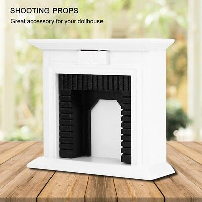 1:12 Dollhouse Miniature Furniture Wooden Fireplace for Dolls House Decor Toys
