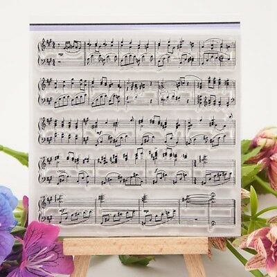 Music Notes Transparent Clear Rubber Stamp Sheet Cling Scrapbooking DIY K6