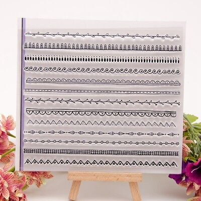 Lace border Transparent Silicone Clear Rubber Stamp Cling Scrapbooking DIY K6