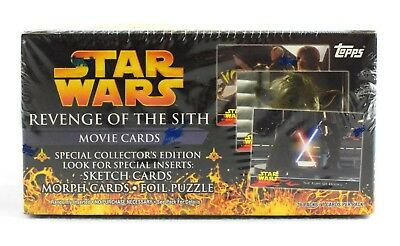 Star Wars Trading Cards Revenge of the Sith Hobby Box (2005 Topps) HARD 2 FIND