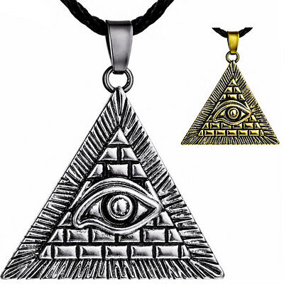 Eye Of Ra Necklace Pendant Horus Masonic Illuminati Wedjat Egypt Pharaoh Pyramid