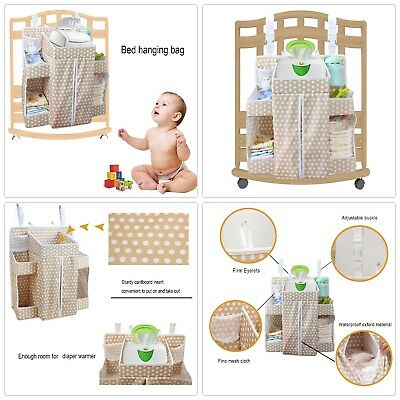 Baby Diaper Nursery Hanging Organizer Infant Toddler Crib Rails Caddy Storage
