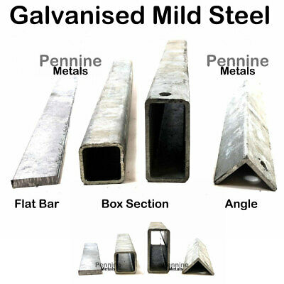 GALVANISED Mild STEEL Sections Flat Square Rectangle Box Section & Angle Iron
