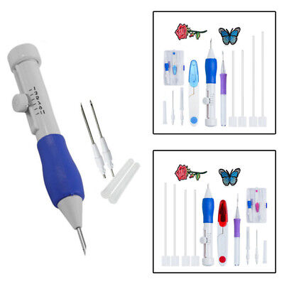 Embroidery Tool Set Pen Universal 12 in 1 Magic DIY Sewing Adjustable Plastic