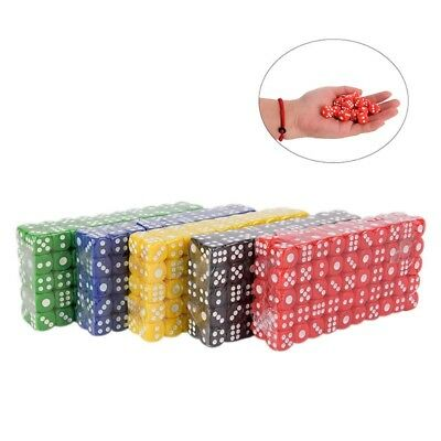 100pcs 14mm Colorful Dice For Board Game Bar Club Party Accessories UK