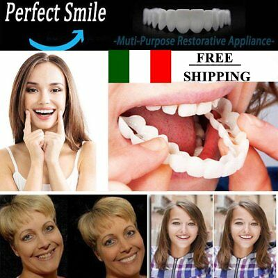 Unisex Snap On Smile Comfort Fit Flex Finti Denti Top Veneer Protesi Moda @#IT