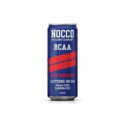 NOCCO BCAA Drink 330ml x 24 or 12 cans