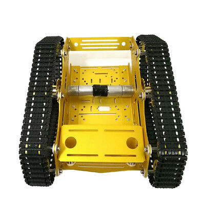 Smart Robot Car Chassis Aluminous Crawler Belt Tracked Tank with Code Wheel