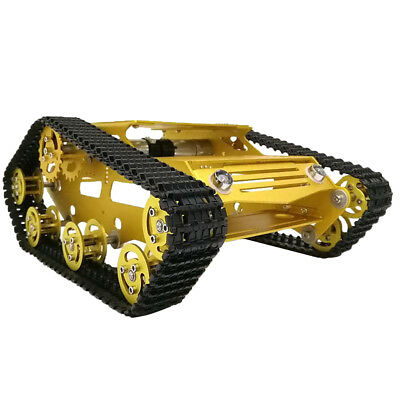 Smart Robot Car Chassis Aluminum Crawler Belt Tracked Tank with Code Wheel