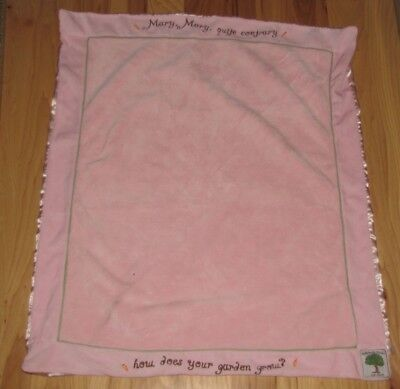Buttermilk Farm By Child To Cherish Mary Quite Contrary Pink Baby Blanket Perine