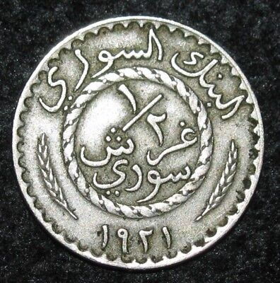 1/2 Piastre ~ 1921 ~  MIDDLE EAST ~ World Coin ~ BIN-#86