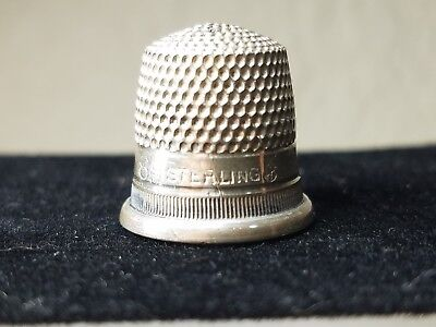 Antique Sterling Silver 8 Thimble  Circa 1940s