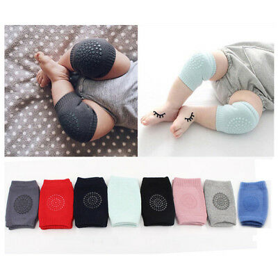 Safety Crawling Knee Elbow Pads Leg Protector Anti-Slip Infant Baby Toddler UK