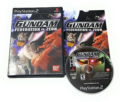 Mobile Suit Gundam: Federation vs. Zeon PlayStation 2 PS2 Complete +FREE ship