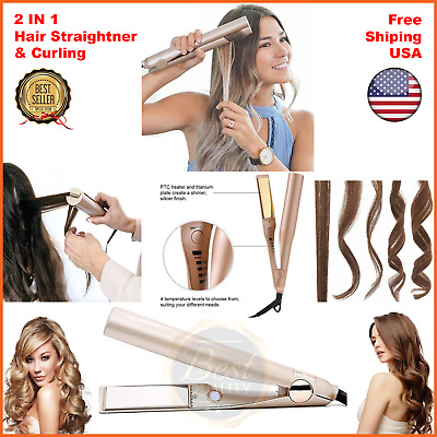 2 IN 1 MESTAR IRON PRO Hair Straightener Curling Hair iron 2 IN 1 Styling tool