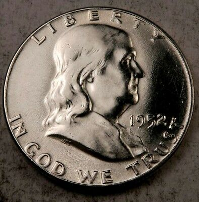 (1) 1952 Franklin Half Dollar // Choice-Gem BU // 90% Silver // 1 Coin