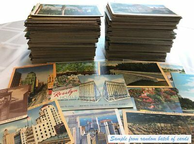 Antique and vintage postcards - random lot of 25 - from the United States (1920s