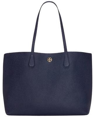 c0e4b106f00 New Tory Burch (41135) Pebbled Leather Royal Navy Perry Brody Tote Handbag  Bag
