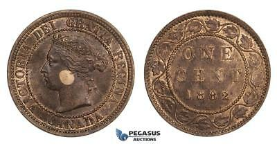 AA026, Canada, Victoria, 1 Cent 1882-H, Heaton, Spotted toning, UNC