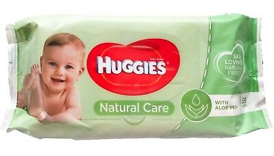 Huggies Natural Care Baby Wet Wipes 56 pieces With Aleo Vera Alcohol free