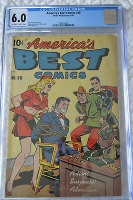 America's Best Comics # 30 (1949) CGC 6.0 OFF-WHITE TO WHITE Pages