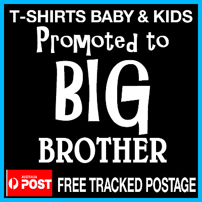 Promoted to BIG BROTHER - Pregnancy Annoucement Custom TShirt Size 0 -12 BROTHER
