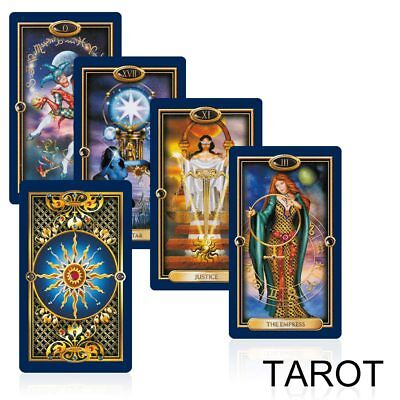 78 gold tarot cards mysterious Bright tarot deck playing cards game for women