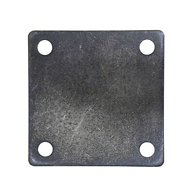 "FLAT SQUARE STEEL METAL BASE PLATE 5"" x 5"" x 1/4"" THICKNESS 3/8"" HOLE 