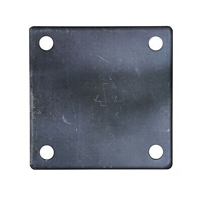 "FLAT SQUARE STEEL METAL BASE PLATE 6"" x 6"" x 1/4"" THICKNESS 3/8"" HOLE 