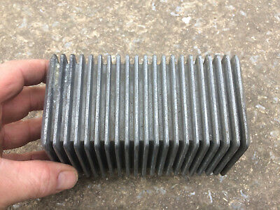 old school vintage finned oil cooler for Harley / Triumph / custom motorcycle