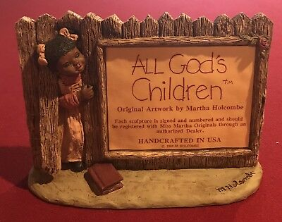 Miss Martha Holcombe All God's Children Collector Display Sign Plaque Large