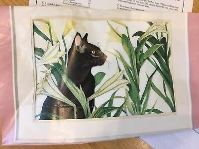 Sophisticated Cat From The Heart  51038 Gallery Crewel Pattern Embroidery Huston