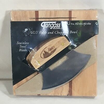 Alaskan Ulu Knife and Chopping Bowl Tongass Trading Company New in Package