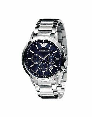 New Emporio Armani Ar2448 Stainless Steel Chronograph Men's Watch Free Shipping