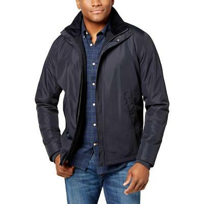 Barbour Mens Navy Winter Coat Waterproof Bomber Jacket Outerwear XXL BHFO 9202