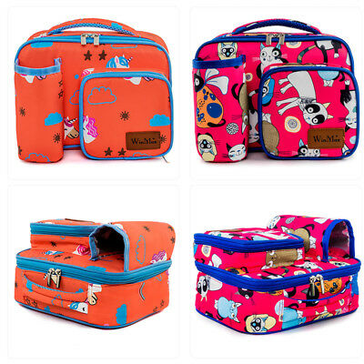 Kids Lunch Bag Thermal Insulated Children Boys Girls School Lunch Box Tote Bag