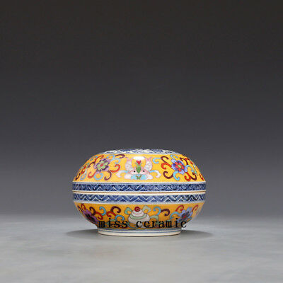 Ming Chenghua China antique colour enamels wire inlay flowers Phoenix cover box