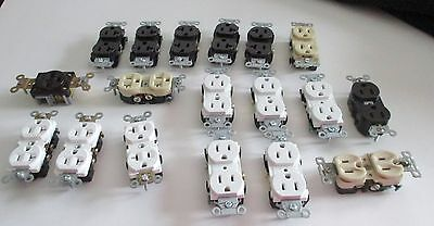 Hubbell  Lot of 18 Receptacles - various sizes