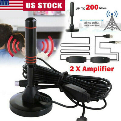 1080P Antenna TV Digital HD 200 Miles Range Skywire TV Indoor 4K 16ft Coax Cable
