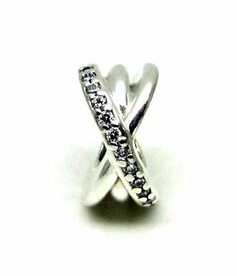 fcb51e6f4 NEW Authentic Pandora Silver Sterling Clear CZ Galaxy Entwined Charm  791994CZ