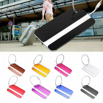 Travel Personalized Metal Luggage tags Name Address ID Baggage Suitcase Tag