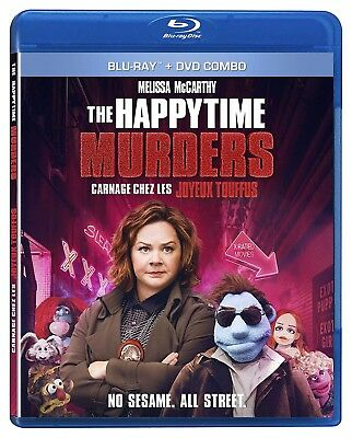 THE HAPPYTIME MURDERS BLURAY & DVD COMBO SET with Melissa McCarthy & Joel McHale