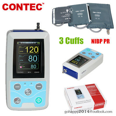 ABPM50 Ambulatory Blood Pressure Monitor 24 hours handhold NIBP PR PC software
